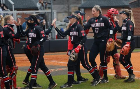 Austin Peay State University Softball plays Jacksonville State at home in meeting of the OVC's two hottest teams. (Robert Smith, APSU Sports Information)