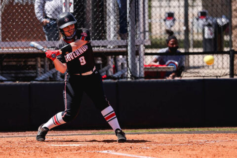 Austin Peay State University Softball senior Drew Dudley had three RBIs in the Govs Game 1 win over Tennessee State. (APSU Sports Information)