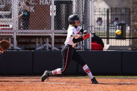 Austin Peay State University Softball junior Emily Harkleroad had two hits in loss to SIU Edwardsville, Saturday. (APSU Sports Information)