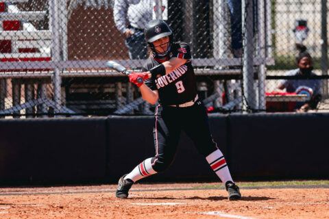 Austin Peay State University Softball infielder Drew Dudley went 1-3 Friday against UT Martin. (Carder Henry, APSU Sports Information)