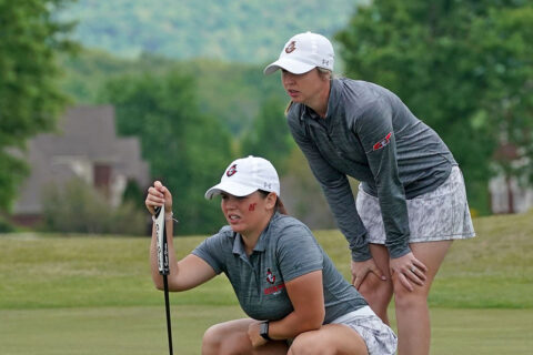 Austin Peay State University Women's Golf junior Shelby Darnell is in fifth place at OVC Championships. (APSU Sports Information)