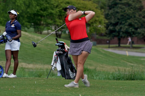 Austin Peay State University Women's Golf moves up to spots to Third heading into final day of the OVC Championships. (APSU Sports Information)