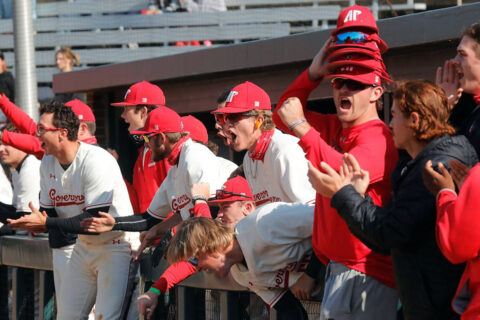 Austin Peay State University Baseball plays three-game series against Arkansas State this weekend at Raymond C. Hand Park. (Robert Smith, APSU Sports Information)