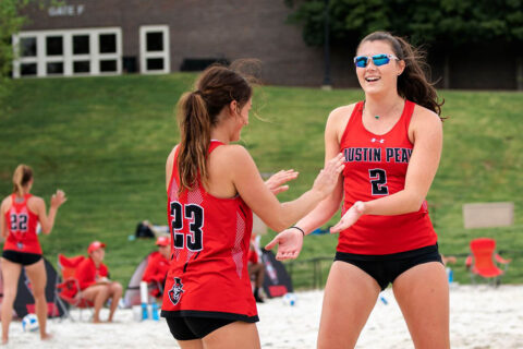 Austin Peay State University Beach Volleyball plays doubleheader against North Alabama at home, Friday. (APSU Sports Information)