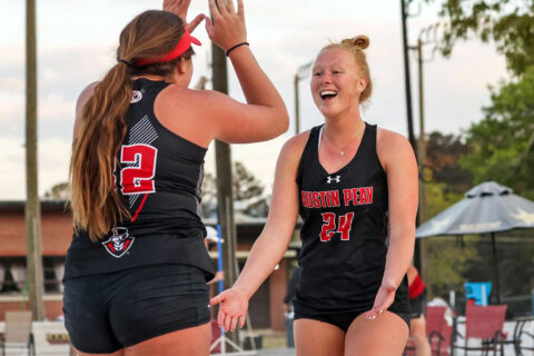 Austin Peay State University Beach Volleyball spilts doubleheader at East Kentucky Beach Tournament. (APSU Sports Information)