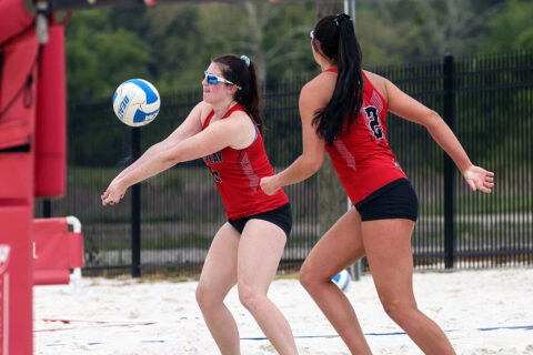 Austin Peay State University Beach Volleyball plays Jacksonville State in OVC Tournament action, Thursday. (APSU Sports Information)