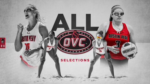Austin Peay State University Beach Volleyball has four players named to All-OVC Teams. (APSU Sports Information)