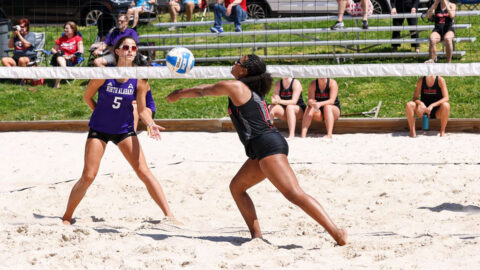 Austin Peay State University Beach Volleyball drops pair Friday to North Alabama. (APSU Sports Information)