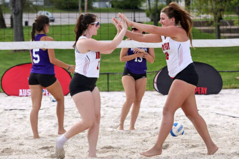 Austin Peay State University Beach Volleyball hosts UT Martin for season's last home matches. (APSU Sports Information)