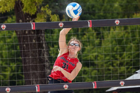 Austin Peay State University Beach Volleyball finished final day of the Jacksonville State Tournament with a split. (APSU Sports Information)