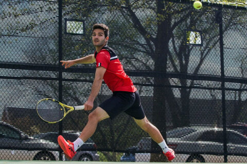 Austin Peay State University Men's Tennis drops regular season final match to Tennessee Tech. (APSU Sports Information)
