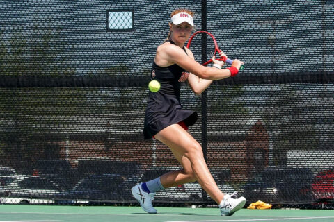 Austin Peay State University Women's Tennis gets 5-2 home win over SIU Edwardsville, Sunday. (APSU Sports Information)