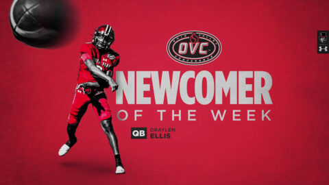 Austin Peay State University Football quarterback Draylen Ellis named OVC Newcomer of the Week. (APSU Sports Information)