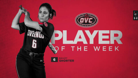 Austin Peay State University Softball senior Bailey Shorter selected OVC Softball Player of the Week. (APSU Sports Information)