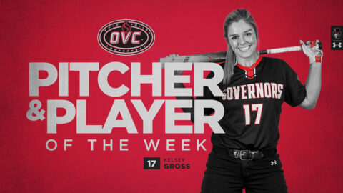 Austin Peay State University Softball's Kelsey Gross named OVC Player of the Week, Pitcher of the Week. (APSU Sports Information)