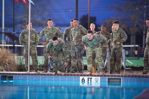 The Austin Peay State University Ranger Challenge team trains for Sandhurst.  (APSU)