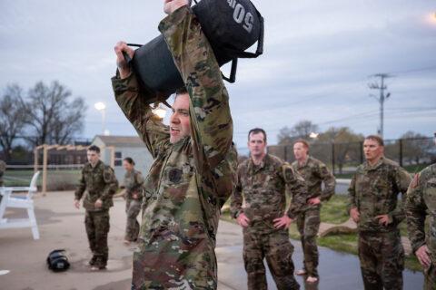 Team members train for Sandhurst. (APSU)