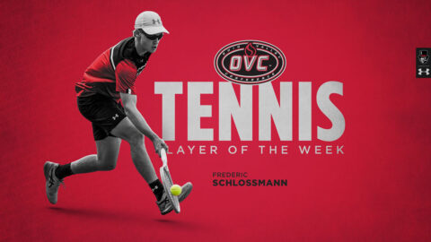 Austin Peay State University Men's Tennis freshman Frederic Schlossmann named OVC Player of the Week. (APSU Sports Information)