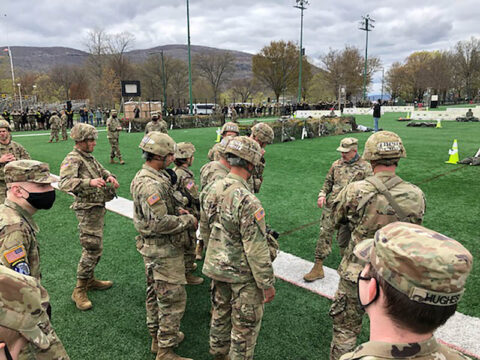 """The Austin Peay State University ROTC Ranger Challenge team competes during """"The Crucible."""" (APSU)"""