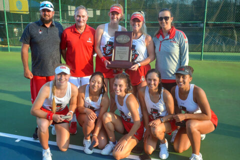 Austin Peay State University Women's Tennis are the 2021 OVC Women's Tennis Champions. (APSU Sports Information)