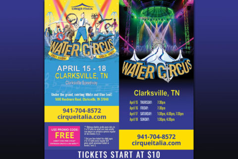 Cirque Italia Water Circus comes to Clarksville April 15th-18th
