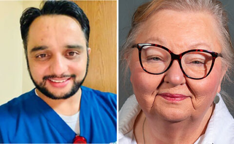 (L to R) Deepesh Subedi and Dr. Linda Darnell. (APSU)