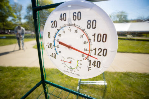 Even on a moderate spring day, temperatures topped 100 degrees in the time machine. (APSU)