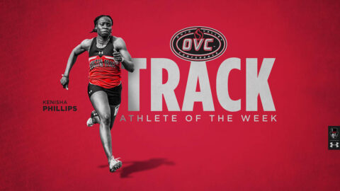 Austin Peay State University Track and Field sophomore Kenisha Phillips earns OVC Track Athlete of the Week award. (APSU Sports Information)