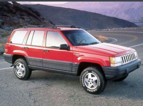 The stolen red 1994 Jeep Grand Cherokee looks similar to the one in this photo.