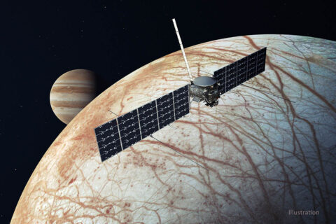 NASA's Europa Clipper, depicted in this illustration that was updated in December 2020. (NASA/JPL-Caltech)