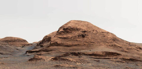 "NASA's Curiosity Mars rover used its Mastcam to take an image of this mountain, nicknamed ""Rafael Navarro Mountain"" after the astrobiologist Rafael Navarro-González, who worked on the mission until he passed away January 26th, 2021. (NASA)"