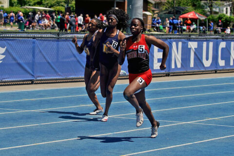 Austin Peay State University Track and Field's Kenisha Phillips, Karlijn Schouten among top performers at Kentucky Open. (APSU Sports Information)