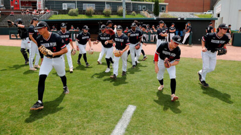 Austin Peay State University Baseball seeks to secure OVC Tournament spot at Murray State this weekend. (Robert Smith, APSU Sports Information)