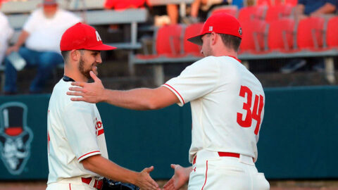 Austin Peay State University Baseball moves closer to OVC Tournament berth with series-opening win against Murray State. (Robert Smith, APSU Sports Information)