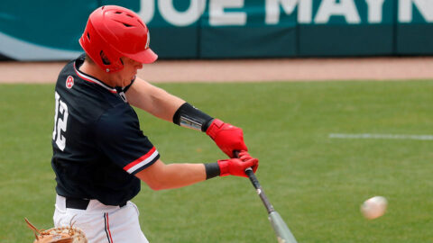 Austin Peay State University Baseball sophomore Jack Alexander has two home runs in Govs 9-3 win over Murray State in Game 1 of a doubleheader. (Robert Smith, APSU Sports Information)