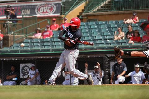 Austin Peay State University baseball's late rally falls short in OVC Tournament loss to Southeast Missouri, Thursday. (Eric Elliot, APSU Sports Information)