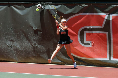 Austin Peay State University Women's Tennis fall to No. 3 Bulldogs in first round of NCAA Tournament, Friday. (APSU Sports Information)