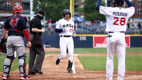 Memphis Redbirds Launch Four Homers in Rout of Nashville Sounds Tuesday night at First Horizon Park. (Nashville Sounds)