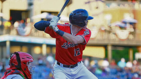 Nashville Sounds Offense Erupts Early and Pitching Holds Late in 6-5 Win over Columbus Clippers. (Nashville Sounds)