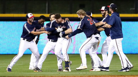 Zach Green Delivers Walk-Off Double in 10th Inning for Nashville Sounds. (Nashville Sounds)