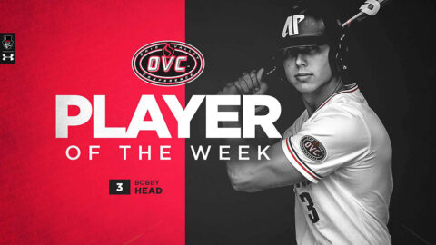 Austin Peay State University Baseball's Bobby Head named OVC Player of the Week and one of eight National Players of the Week by Collegiate Baseball. (APSU Sports Information)