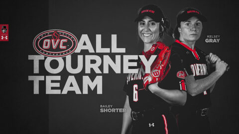 Austin Peay State University's Bailey Shorter, Kelsey Gray named to OVC All-Tournament Softball Team. (APSU Sports Information)