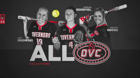 Austin Peay State University Softball's Jordan Benefiel named OVC Freshman of the Year, Lexi Osowski First Team All-OVC, Kelsey Gross Second Team All-OVC. (APSU Sports Information)
