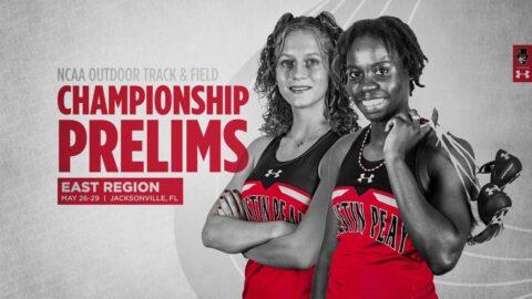 Austin Peay State University Women's Track and Field freshman Kenisha Phillips, Karlijn Schouten head to the NCAA East Preliminary, Thursday. (APSU Sports Information)