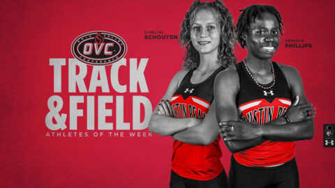 Austin Peay State University Track and Field's Kenisha Phillips and Karlign Schouten receive OVC Weekly Awards. (APSU Sports Information)