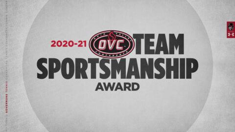 Austin Peay State University Men and Women's Tennis Teams receive OVC Sportsmanship Awards. (APSU Sports Information)