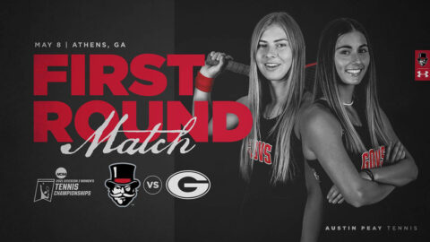 Austin Peay State University Women's Tennis travels to No. 3 Georgia for first-round match in the NCAA Championship. (APSU Sports Information)