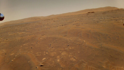 This image of Mars was taken from the height of 33 feet (10 meters) by NASA's Ingenuity Mars helicopter during its sixth flight on May 22, 2021. (NASA/JPL-Caltech)