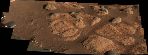 NASA's Perseverance rover viewed these rocks with its Mastcam-Z imager on April 27th, 2021. (NASA/JPL-Caltech/ASU/MSSS)