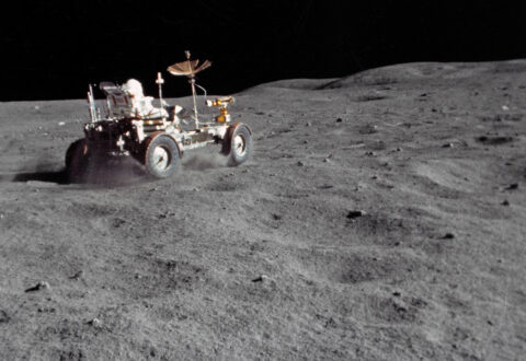 As the Apollo astronauts explored the lunar surface, they had to contend with lunar dust. (NASA)